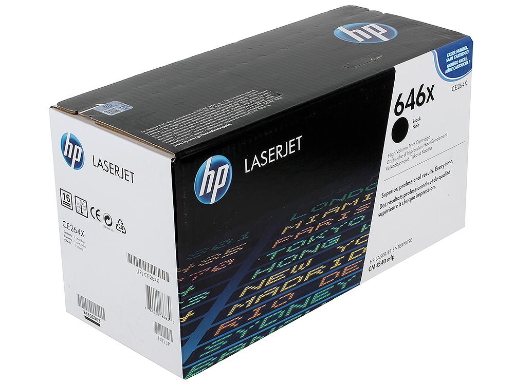 Картридж HP CE264X для CM4540 MFP. Черный. 17000 страниц.
