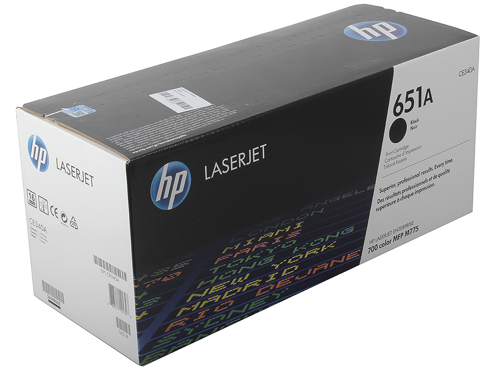 Картридж HP CE340A (HP 651A) для принтеров HP LaserJet 700 Color MFP 775. Черный. hp cb332he
