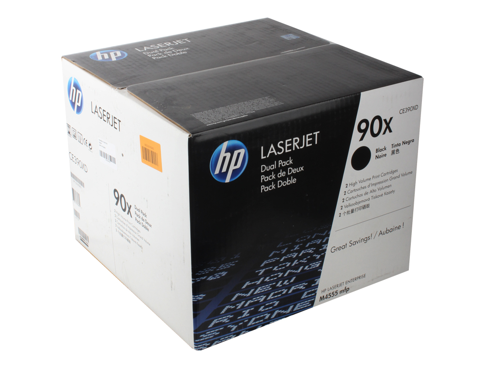 Картридж HP CE390XD (№90X) LaserJet M4555MFP, M601, M602, M603. Черный. 24 000 страниц. Двойная упаковка. new paper delivery tray assembly output paper tray rm1 6903 000 for hp laserjet hp 1102 1106 p1102 p1102w p1102s printer