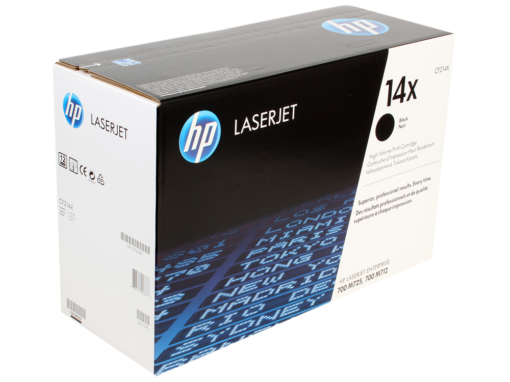 Картридж HP CF214X для LaserJet Enterprise 700 Printer M712dn/M712xh/M725dn/M725f/M725z. Черный. 17500 страниц. new paper delivery tray assembly output paper tray rm1 6903 000 for hp laserjet hp 1102 1106 p1102 p1102w p1102s printer
