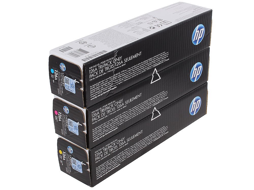 Картридж HP CF341A для цветных принтеров HP LaserJet Pro CP1025, желтый/голубой/пурпурный. 1000 страниц. Тройная упаковка. rg0 1013 for hp laserjet 1000 1150 1200 1300 3300 3330 3380 printer paper tray