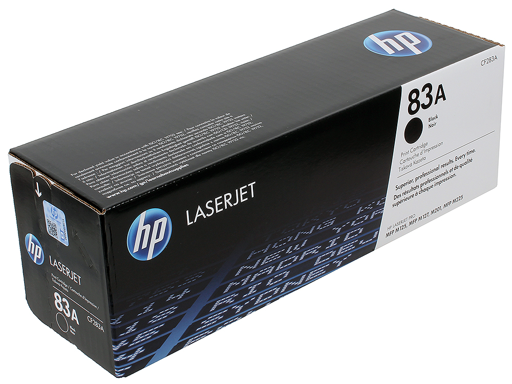 Картридж HP CF283A для HP LaserJet Pro MFP M125 / M127. Чёрный. 1500 страниц. for hp 283 cf283a toner powder and chip for hp laserjet pro mfp m125 m127fn m127fw laser printer free shipping hot sale