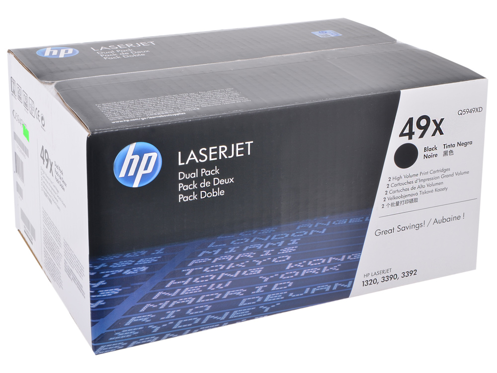 Картридж HP Q5949XD для LJ 1160/1320. Черный. 6000 страниц. Двойная упаковка. cs 7553xu toner laserjet printer laser cartridge for hp q7553x q5949x q7553 q5949 q 7553x 7553 5949x 5949 53x 49x bk 7k pages