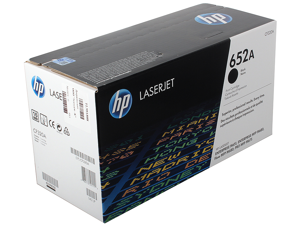 Картридж HP CF320A для LaserJet Enterprise Color MFP M680dn/M651n. Чёрный. 11500 страниц. (652A)