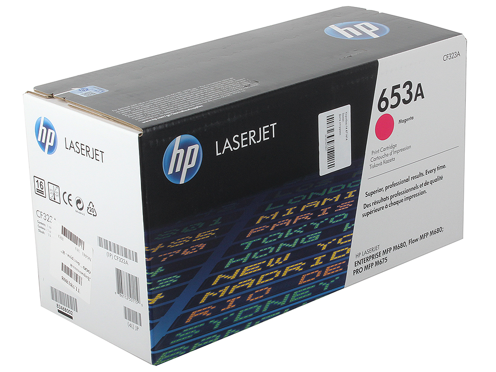 Картридж HP CF323A для LaserJet Enterprise Color MFP M680dn. Пурпурный. 16500 страниц. (653A) chip for hp color laserjet enterprise mfp cf 363 x cf 362 m553 x 553 dn cf 361 a 362 a new laser fuser chips free shipping