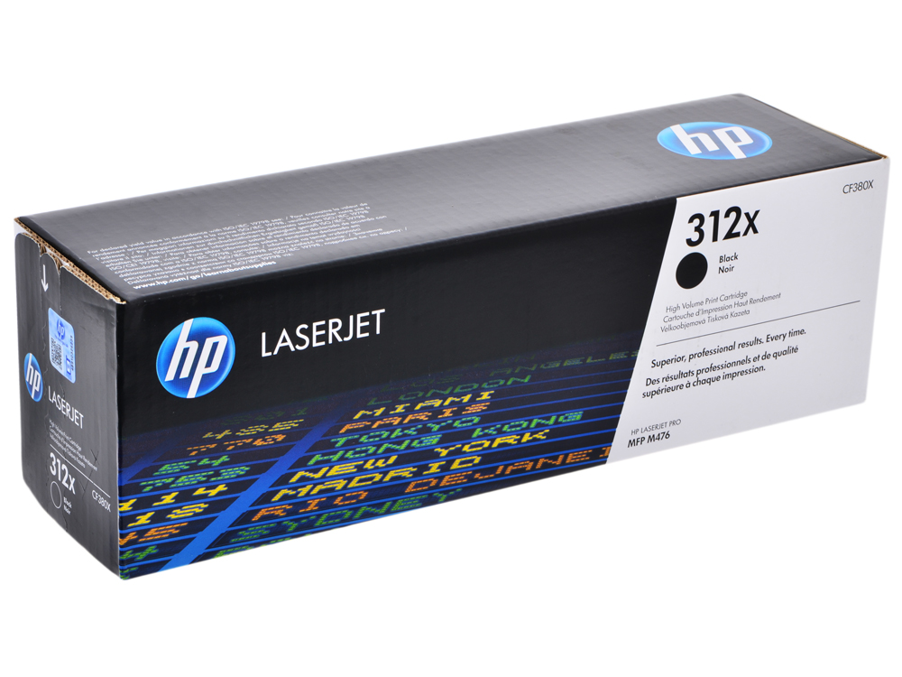 Картридж HP CF380X для Color LaserJet Pro MFP M476 series. Чёрный. 4400 страниц. cf380x 381a 382a 383a toner cartridge chip for hp color laserjet pro m476dn m476dw m476dnw m476 m 476dn 476 powder refill reset