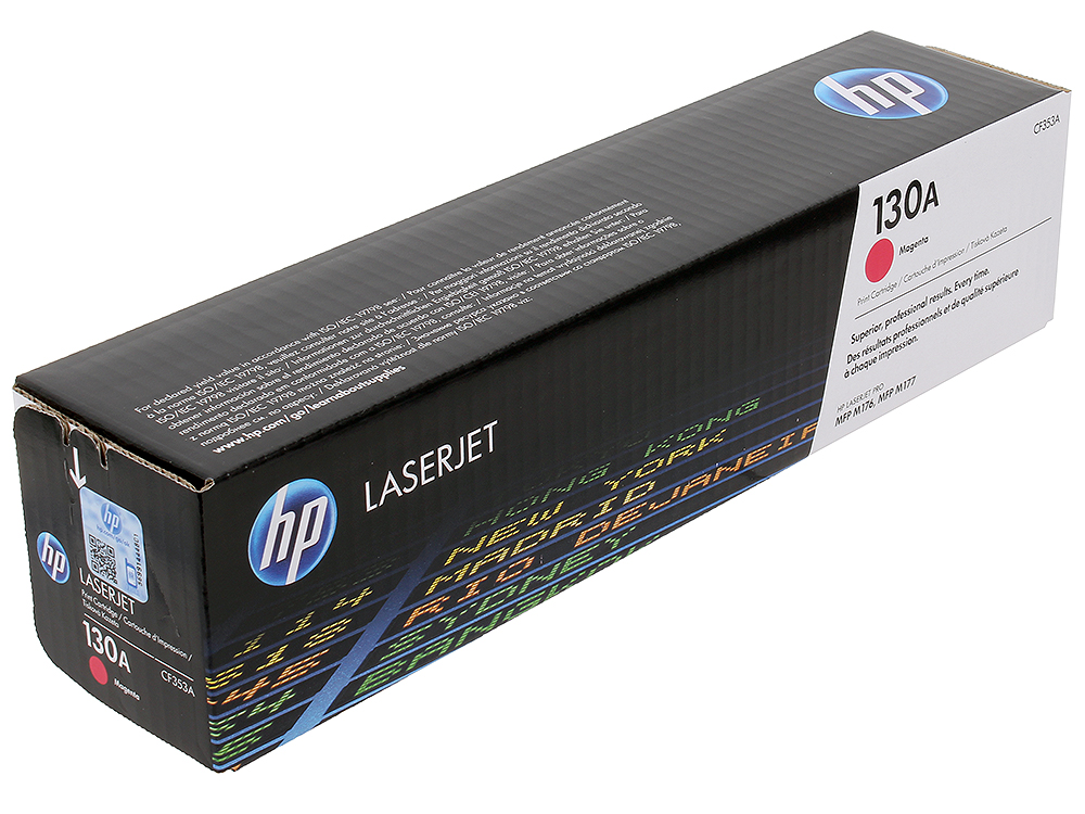 Картридж HP CF353A для LaserJet Pro M153/M176/M177. Пурпурный. 1000 страниц. 130A. 4x non oem toner refill kit chips compatible for hp 130a 130 cf350a cf353a color laserjet pro mfp m176 m176n m177 m177fw