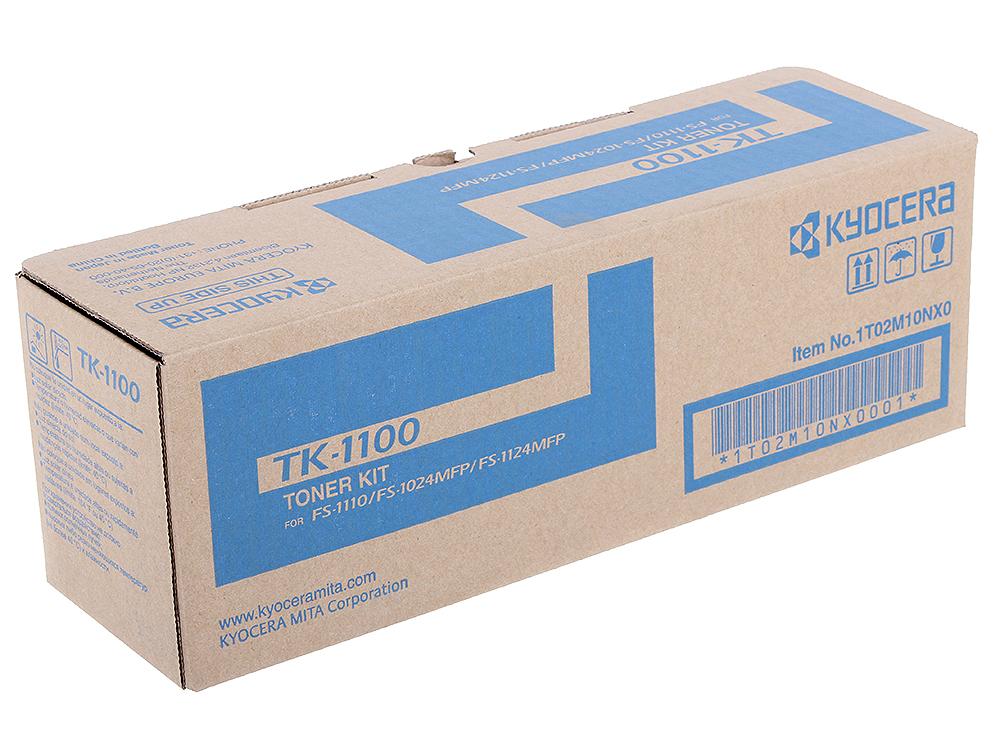 Тонер Kyocera TK-1100 для FS-1110/1024MFP/1124MFP. Чёрный. 2100 страниц. тонер картридж kyocera tk 1110 черный