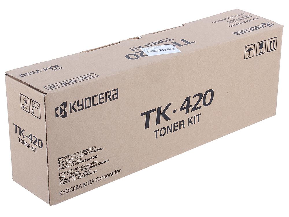 Тонер-картридж kyocera tk-420 черный (black) 15000 стр для
