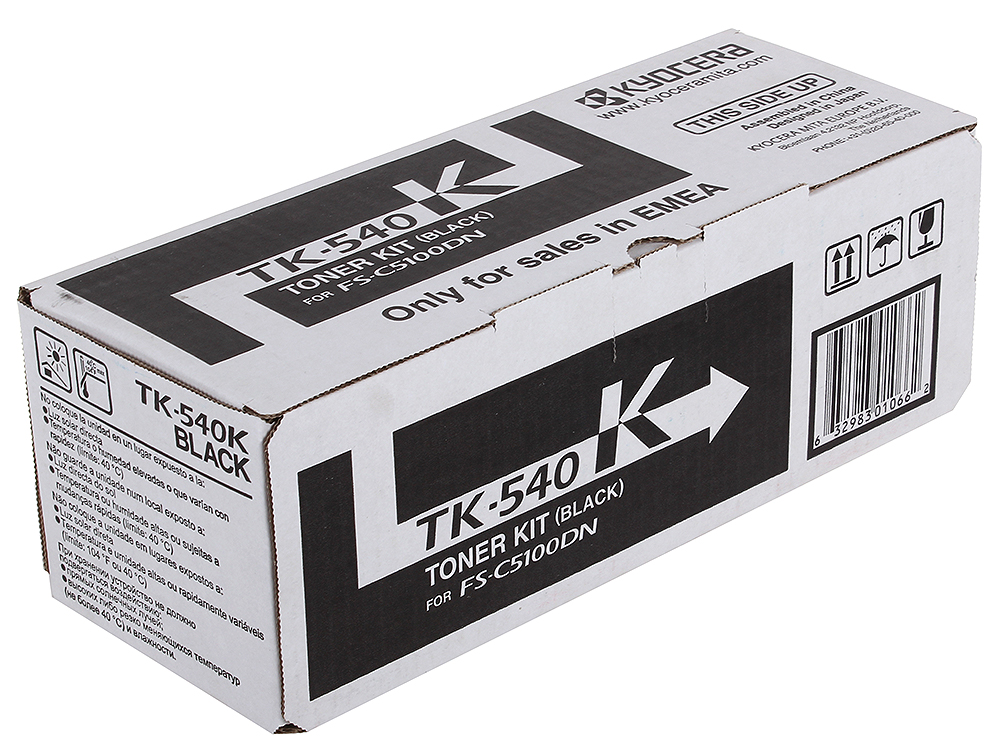 Тонер Kyocera TK-540Bk для FS-C5100DN. Чёрный. 5000 страниц. 4 color compatible toner cartridge tk543 for kyocera fs c5100dn copier printer