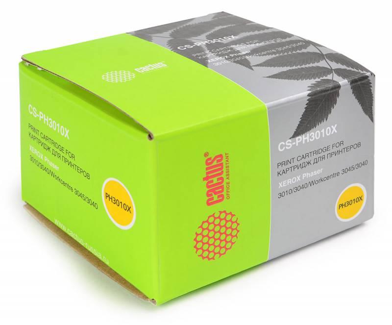 Картридж Cactus CS-PH3010X для Xerox Phaser 3010 WorkCentre 3045. Черный. 2300страниц. полуприцеп маз 975800 3010 2012 г в