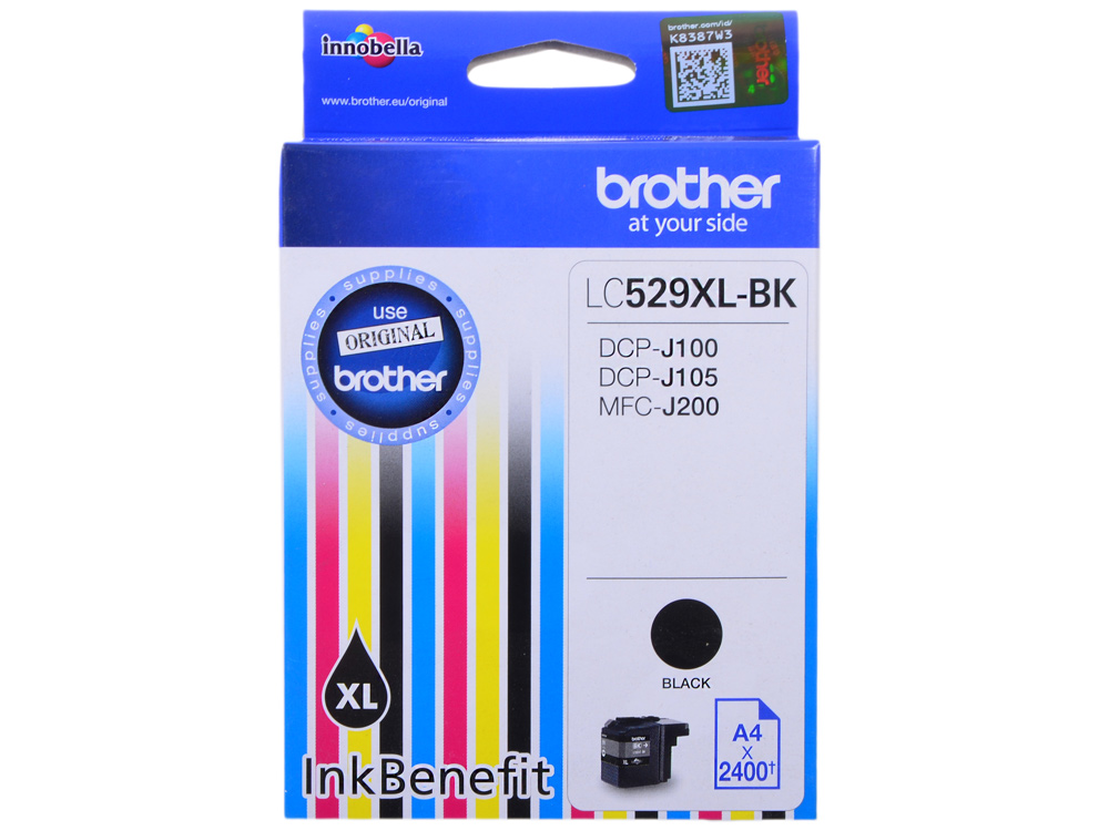Картридж струйный Brother LC529XLBK картридж струйный brother lc663c