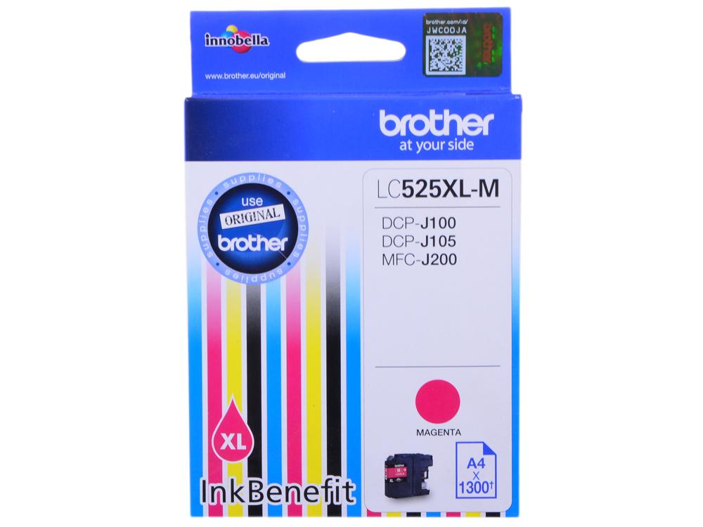 Картридж струйный Brother LC525XLM картридж струйный brother lc1000m