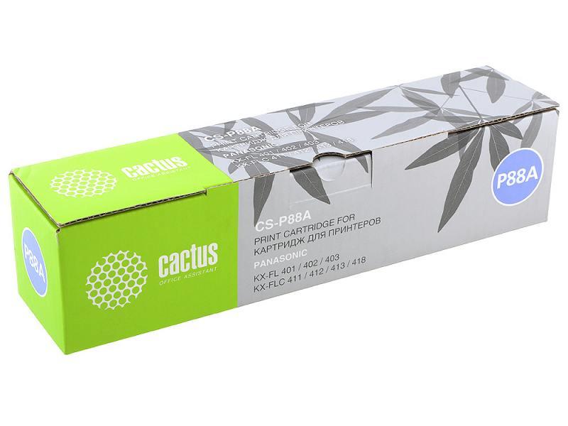 Картридж Cactus CS-P88A для Panasonic KX-FL401/402/403/423 FLC411/412/413/418. Чёрный. 2000 станиц. термопленка panasonic kx fat88a для kx fl401 402 403 и flc411 412 413