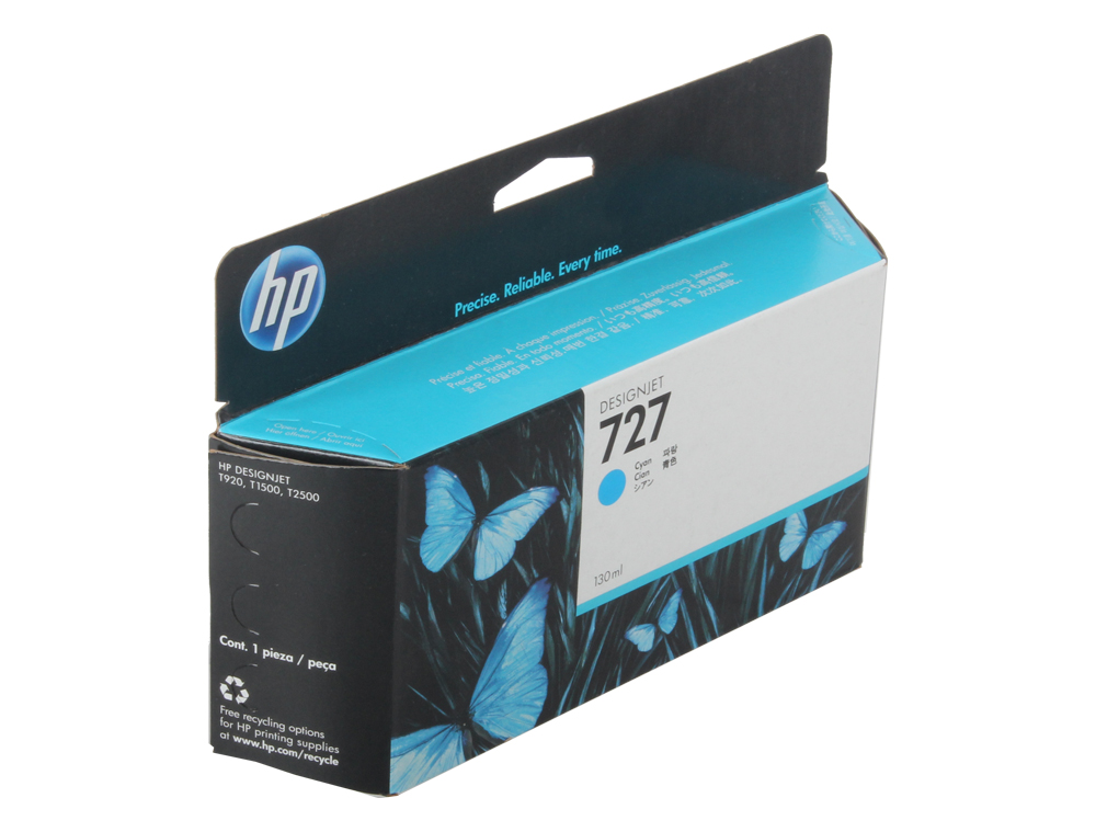 Картридж HP B3P19A №727 для Designjet T920/T1500. Голубой. 130-ml цена