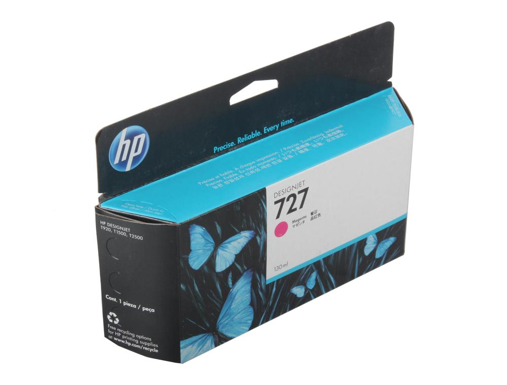 Картридж HP B3P20A №727 для Designjet T920/T1500. Пурпурный. 130-ml картридж hp b3p20a 727 magenta для designjet t920 t1500 130ml