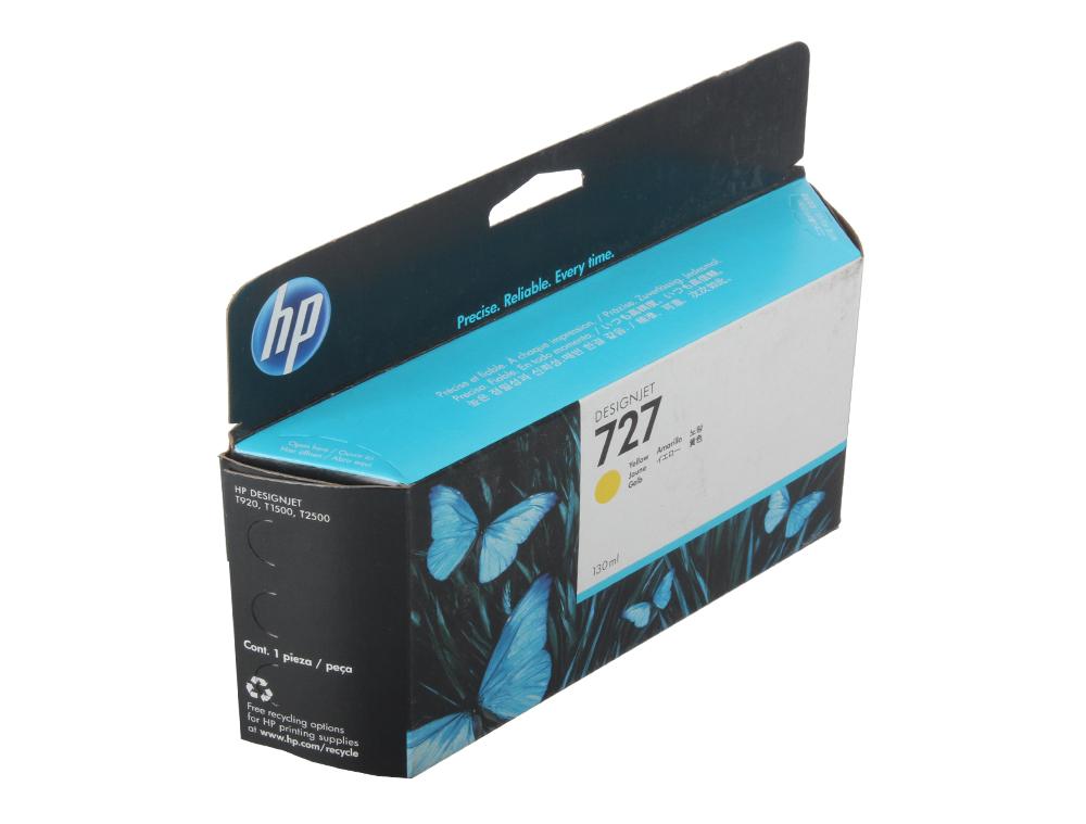Картридж HP B3P21A №727 для Designjet T920/T1500. Жёлтый. 130-ml чернильный картридж hp 130 c8767he black