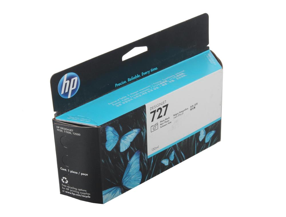 Картридж HP B3P23A №727 для Designjet T920/T1500. Черный фото. 130-ml картридж hp 727 желтый [b3p21a]
