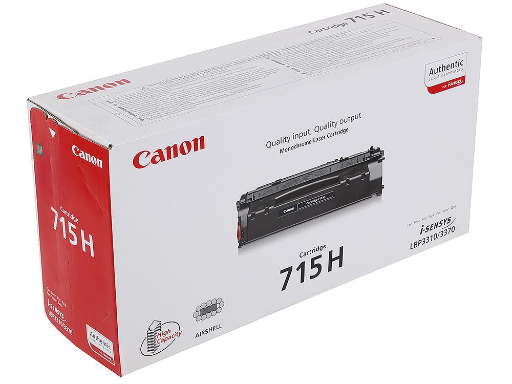 Картридж Canon 715H для принтеров LBP3310/3370. Чёрный. 7 000 страниц. картридж canon 715h для i sensys lbp 3310 3370 чёрный 7000стр