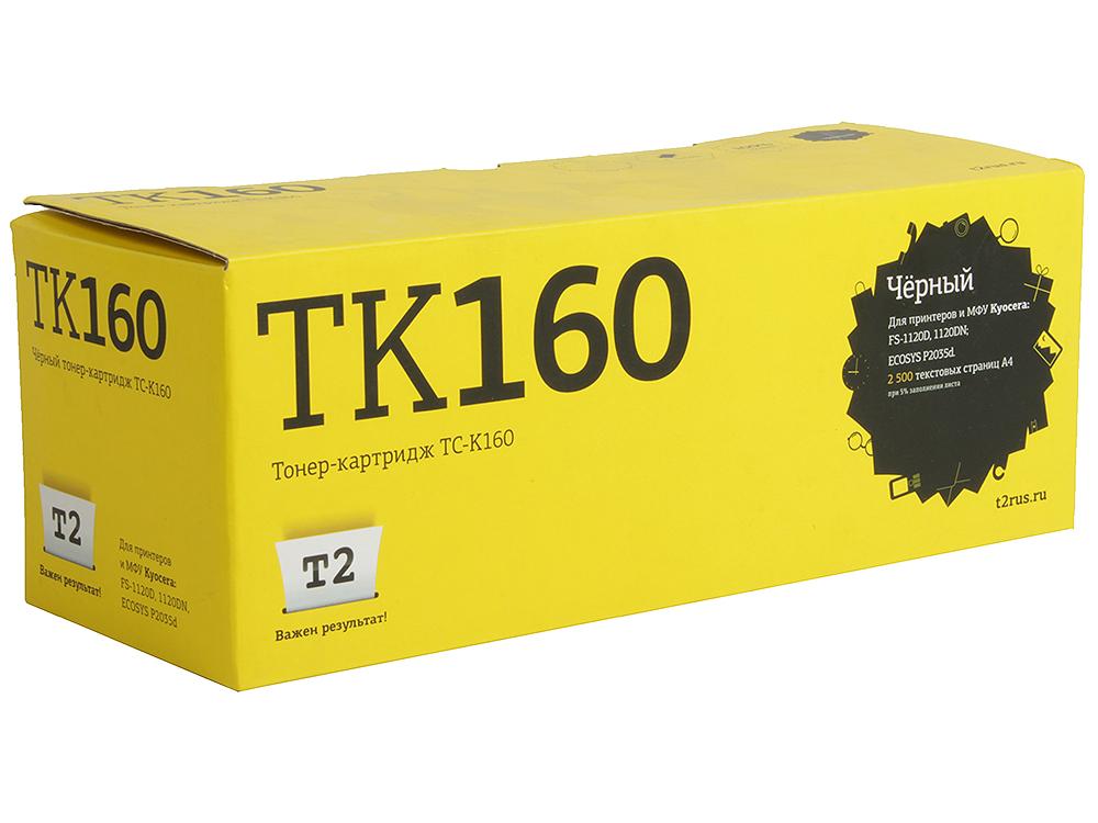 Тонер-картридж T2 TC-K160 (TK-160) с чипом картридж для принтера t2 tc hcf413a с чипом purple