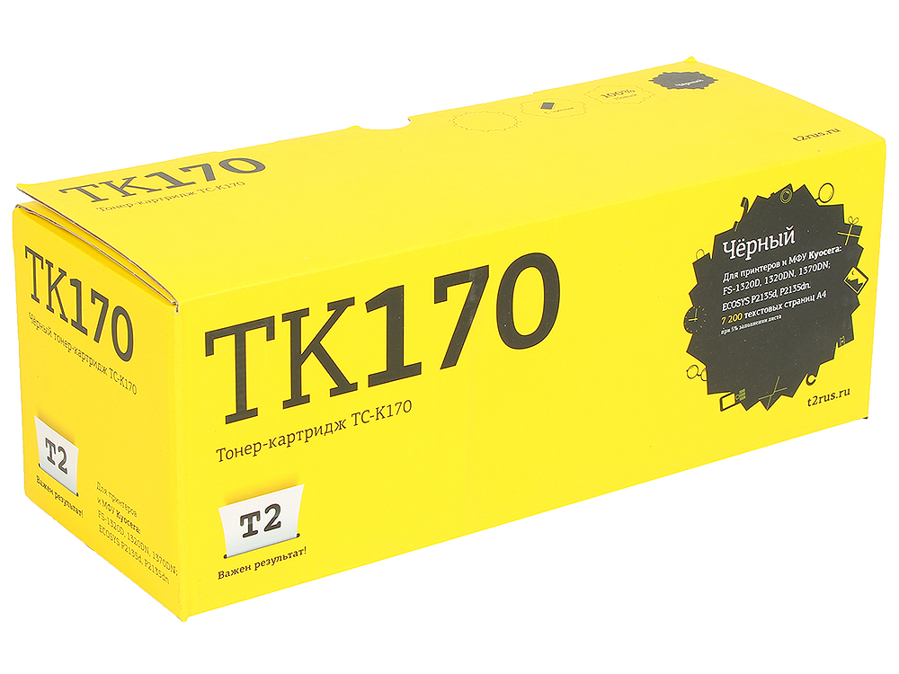 Тонер-картридж T2 TC-K170 (TK-170) с чипом картридж для принтера t2 tc hcf413a с чипом purple