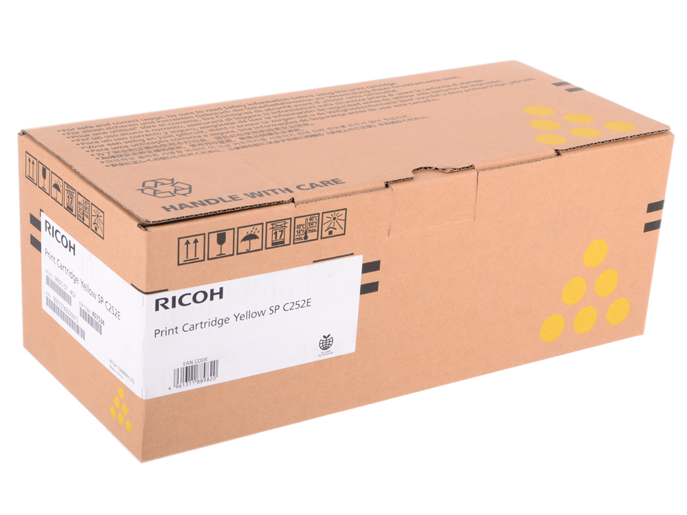 Картридж тип SP C252E Yellow для SP C252DN/C252SF. Жёлтый. 4000 страниц. картридж ricoh sp c252e yellow для sp c252dn c252sf c262dnw c262sfnw 4000стр 407534