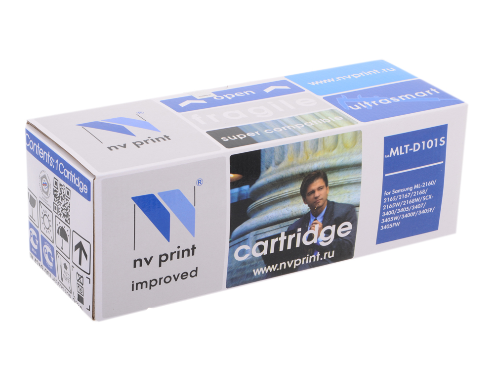 Картридж NV-Print совместимый с Samsung MLT-D101S для SCX 3400/ML 2160 (1500k) картридж nv print для samsung sl m2620 2820 2870 3000k nv mltd115l