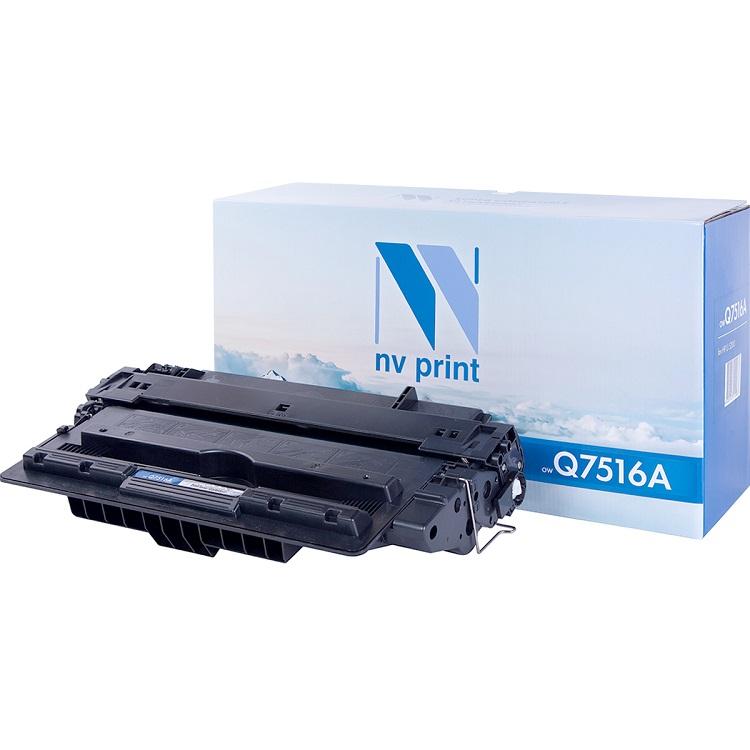 Картридж NV-Print NV-Q7516A черный (black) 12000 стр. для HP LaserJet 5200 картридж nv print hp cf256a для laserjet m436n m436nda 7400k