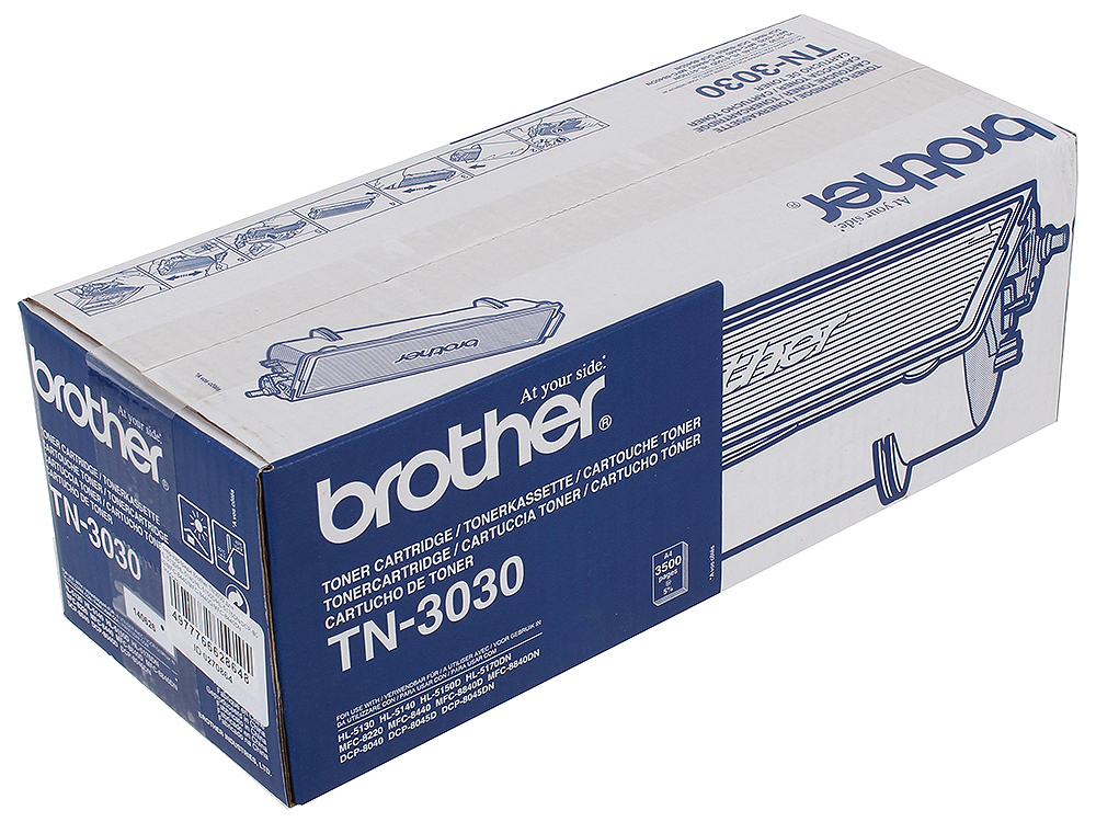Тонер-картридж Brother TN3030 для HL-5130/HL-5140/HL-5150D/HL-5170DN/DCP-8040/MFC-8440/MFC-8440D/MFC-8440DN (3500стр) main board for brother mfc 7840n mfc 7840 mfc 7840 7840n formatter board mainboard