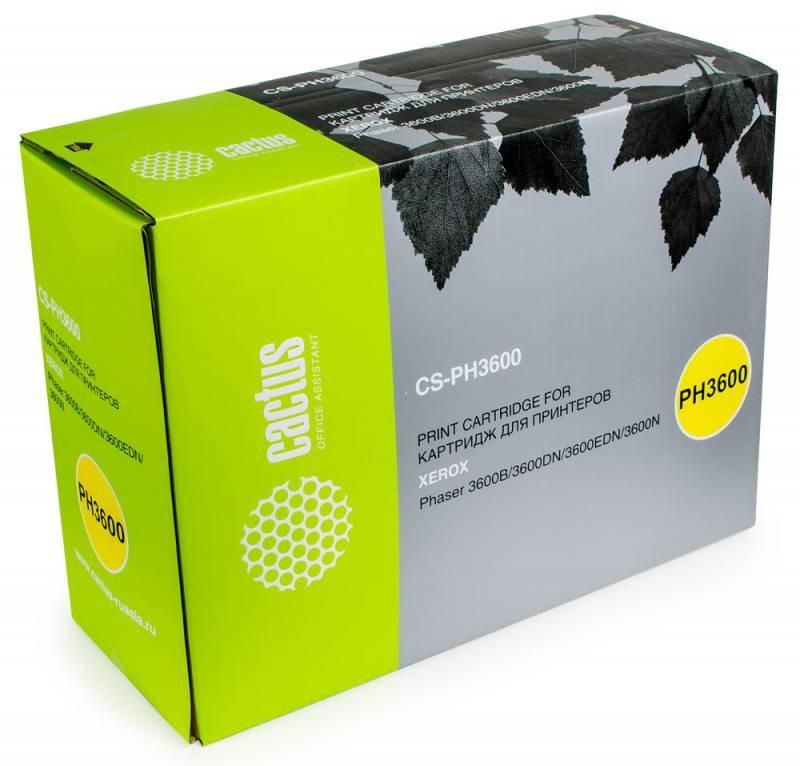 Картридж Cactus CS-PH3600 для Xerox Phaser 3600/3600b/3600dn/3600n. Черный. 14000 станиц. 106R01371 картридж xerox 106r01371