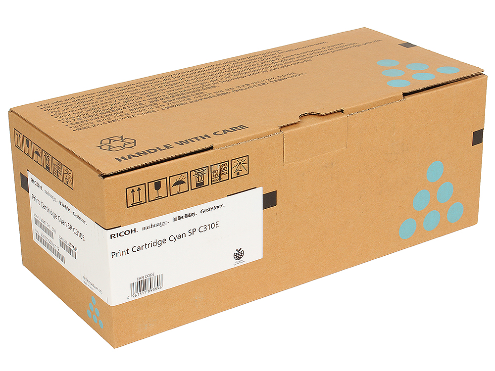 Принт-картридж SPC310E для Aficio SP C231SF/C232SF/C231N/C232DN/C311N/C312DN/C320DN/C242DN/C242SF. Голубой. 2800 страниц.
