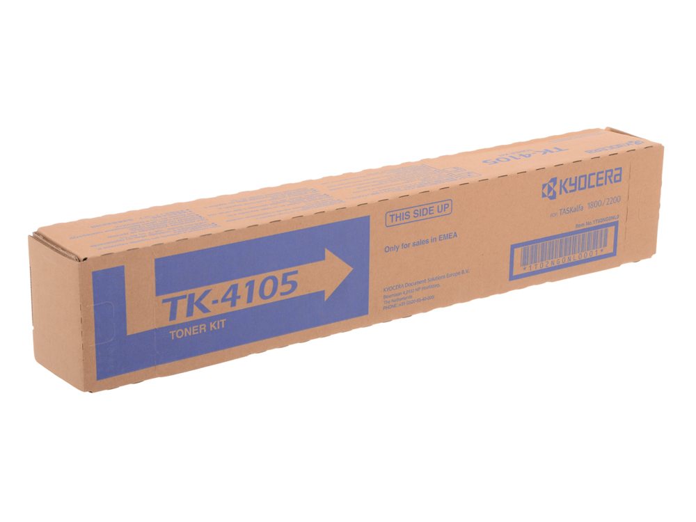 Тонер Kyocera TK-4105 для Kyocera TASKalfa 1800/1801/2200/2201. Чёрный. 15 000 страниц. kyocera dv 4105