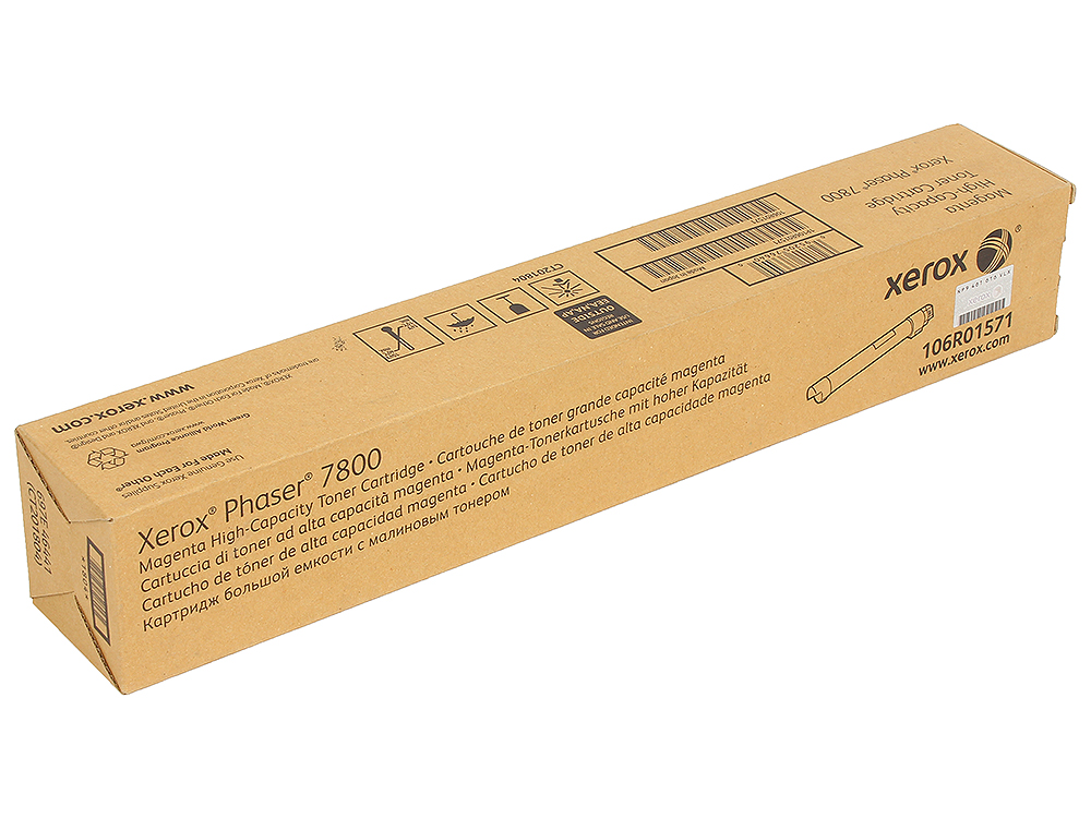 Тонер-картридж Xerox 106R01571 для Phaser 7800. Пурпурный. 17 200 страниц. картридж xerox 113r00692 phaser 6120 тонер картридж черный бол емкости