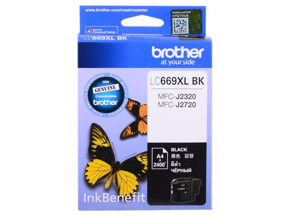 Картридж струйный Brother LC669XLBK картридж струйный brother lc1100hyc