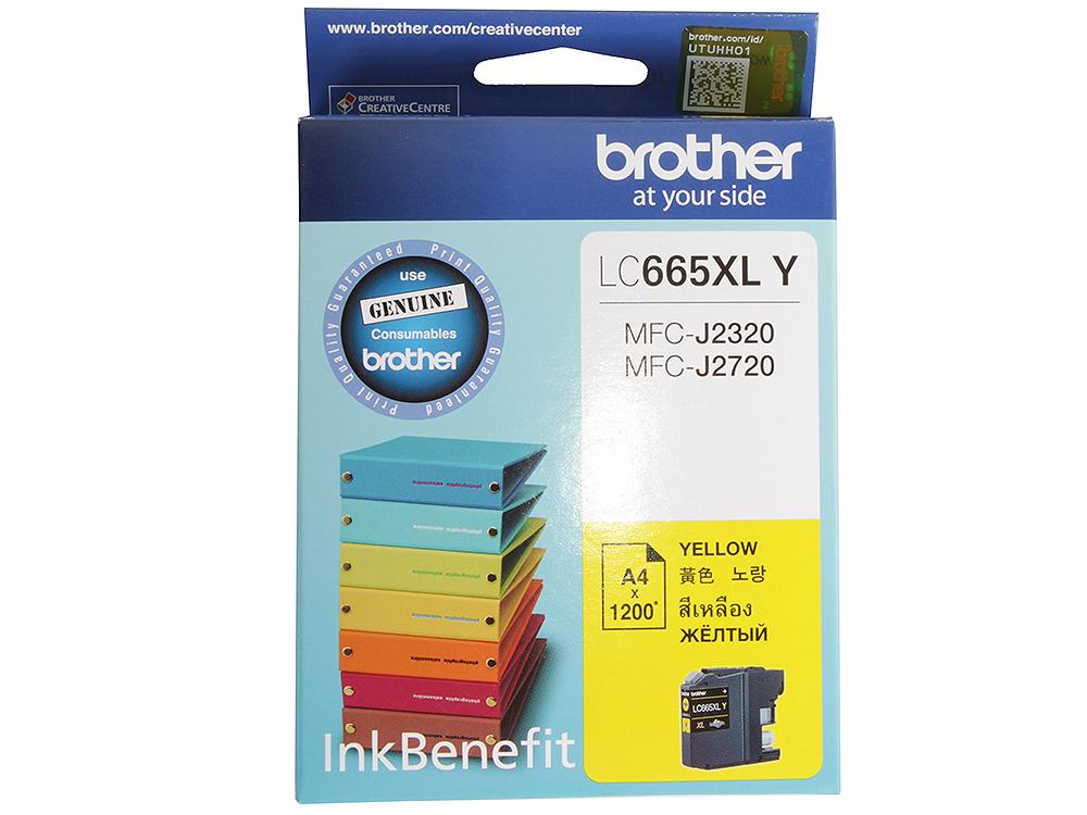 Картридж струйный Brother LC665XLY картридж струйный brother lc663c