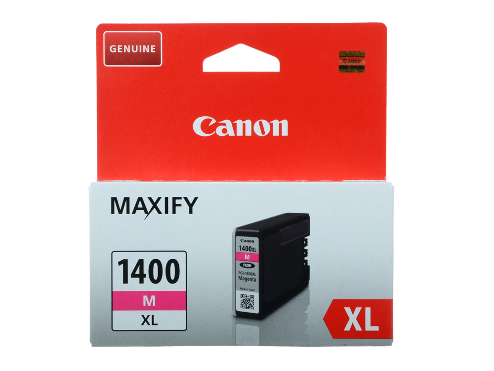 Картридж Canon PGI-1400XL M для MAXIFY МВ2040 и МВ2340. Пурпурный. 780 страниц. картридж canon pgi 1400y xl yellow для maxify мв2040 мв2340 9204b001