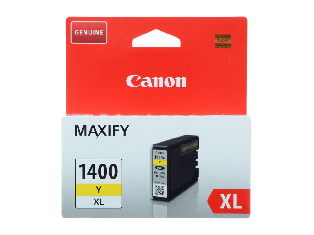 Картридж Canon PGI-1400XL Y для MAXIFY МВ2040 и МВ2340. Желтый. 935 страниц. картридж canon pgi 1400bk c m y xl 9185b004 набор для canon maxify мв2040 2340 черный голубой пурпурный желтый