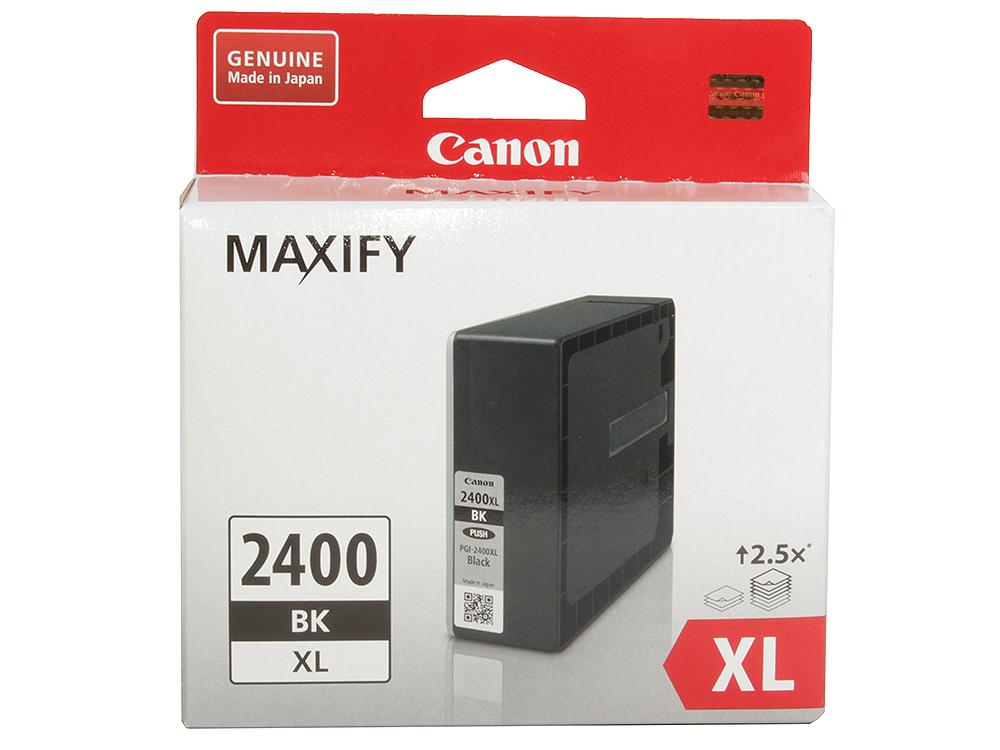 Картридж Canon PGI-2400XL BK для MAXIFY iB4040, МВ5040 и МВ5340. Черный. 2500 страниц. картридж для струйных аппаратов canon pgi 2400xl c для maxify ib4040 мв5040 и мв5340 голубой 9274b001 9274b001