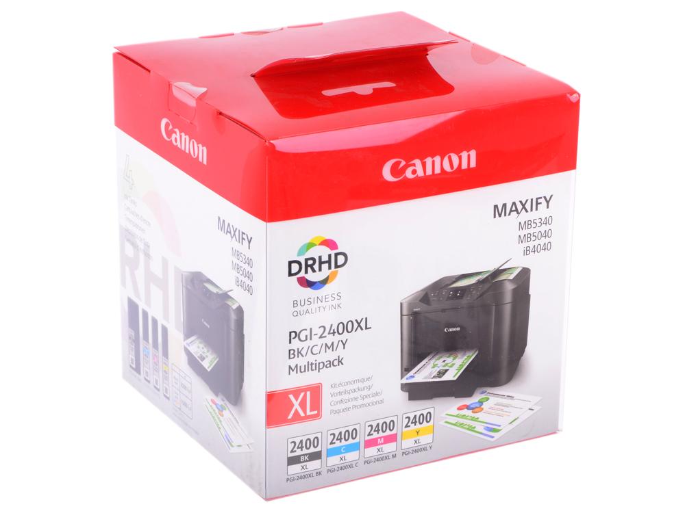 Комплект картриджей Canon PGI-2400XL BK/C/M/Y EMB MULTI двойная упаковка картриджей canon pgi 520bk черный [2932b012]