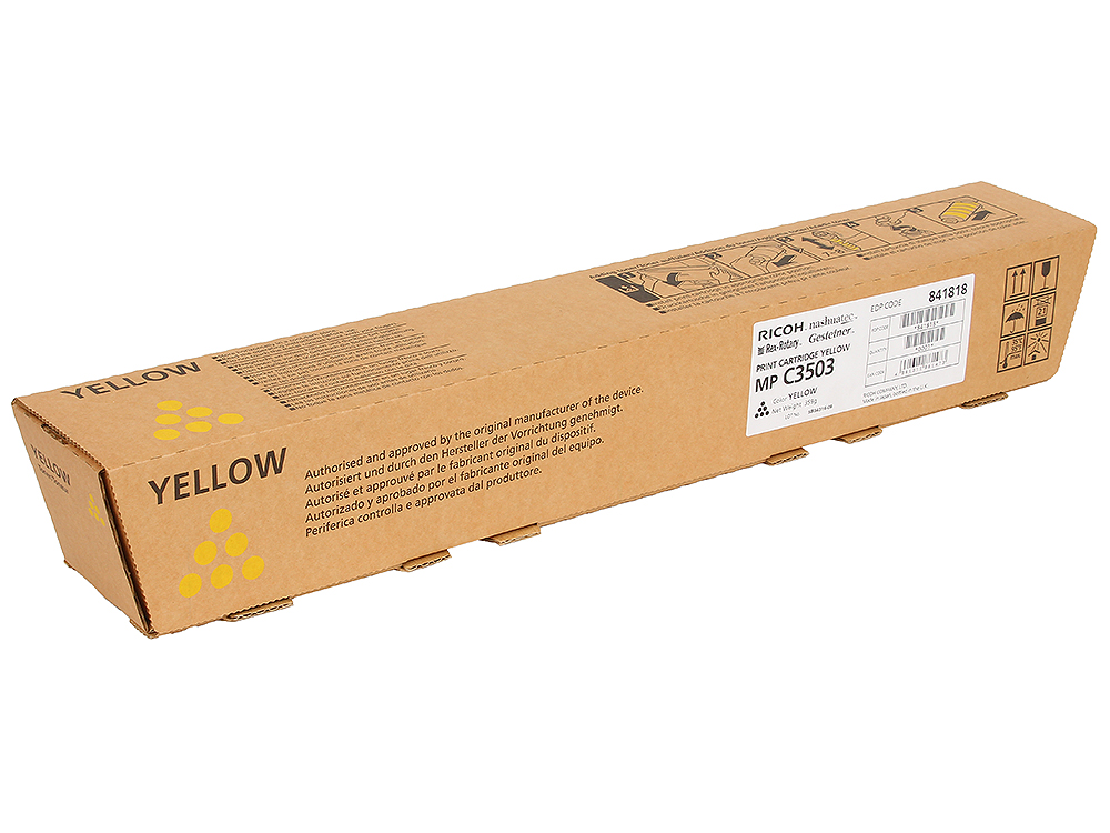 Тонер тип MP C3503 Желтый, 18000 страниц ricoh mp c3503 magenta