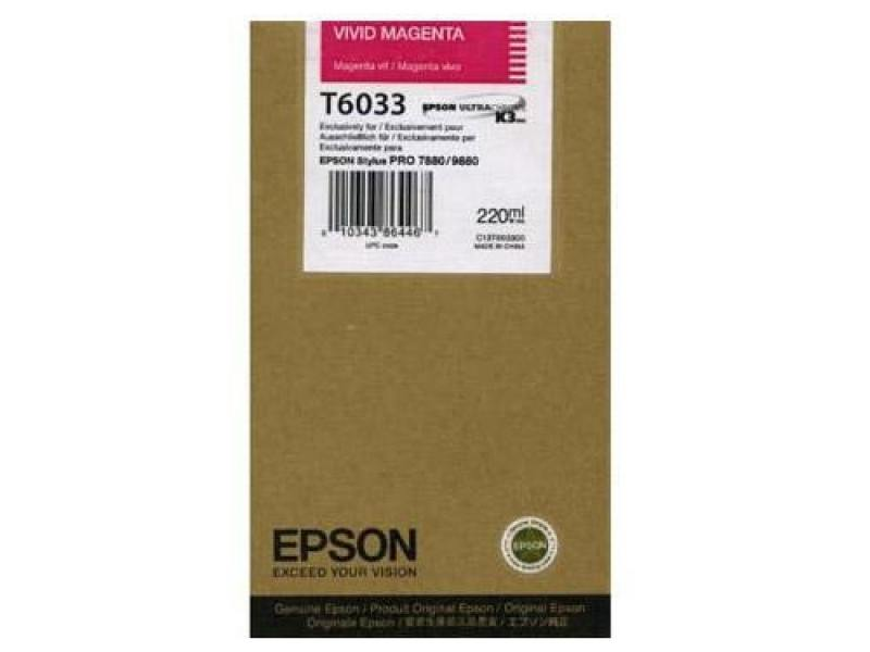 Картридж Epson Original T603300 для Stylus Pro 7800/9800/7880/9880. Пурпурный. new original printhead cable for epson stylus pro 7880 9880 9400 9450 7800 7400 7450 9800 9880c 9880 7550s 9550s solvent printer