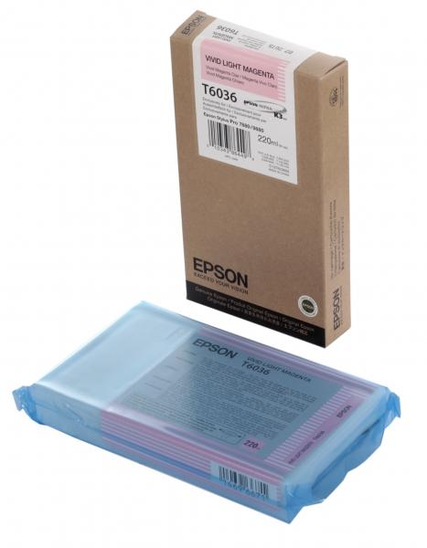 Картридж Epson Original T603600 для Stylus Pro 7800/9800/7880/9880. Светло-пурпурный.