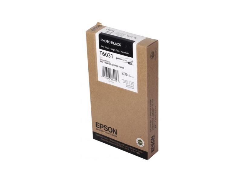 Картридж Epson Original T603100 для Stylus Pro 7800/9800/7880/9880. Черный.