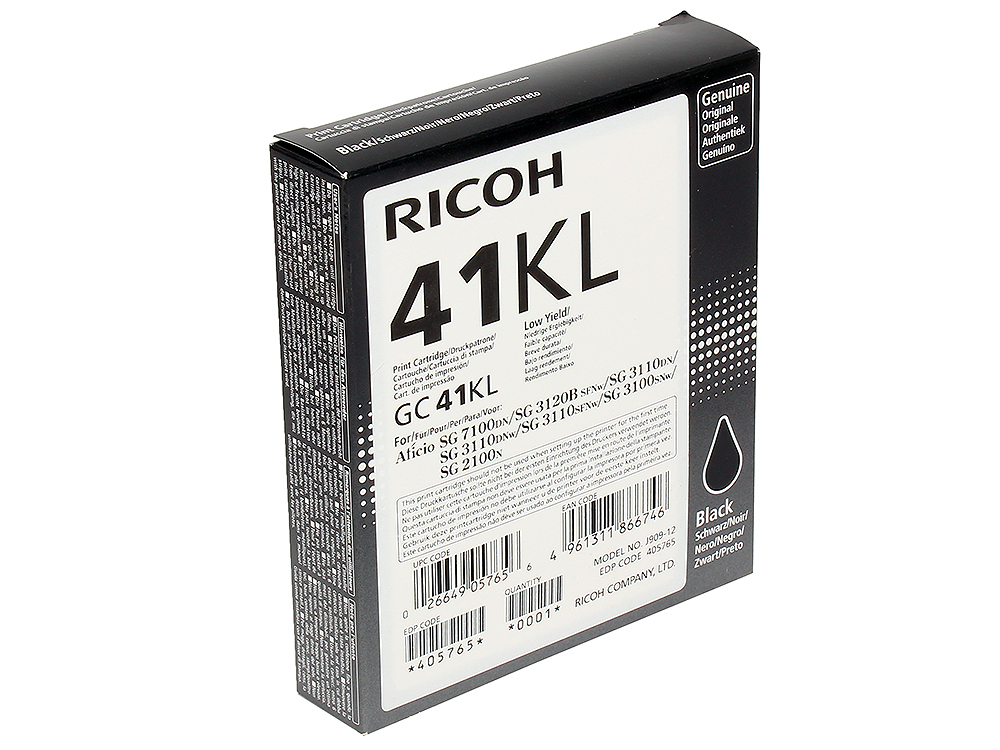 Картридж Ricoh GC 41KL gc gc x70032l1s
