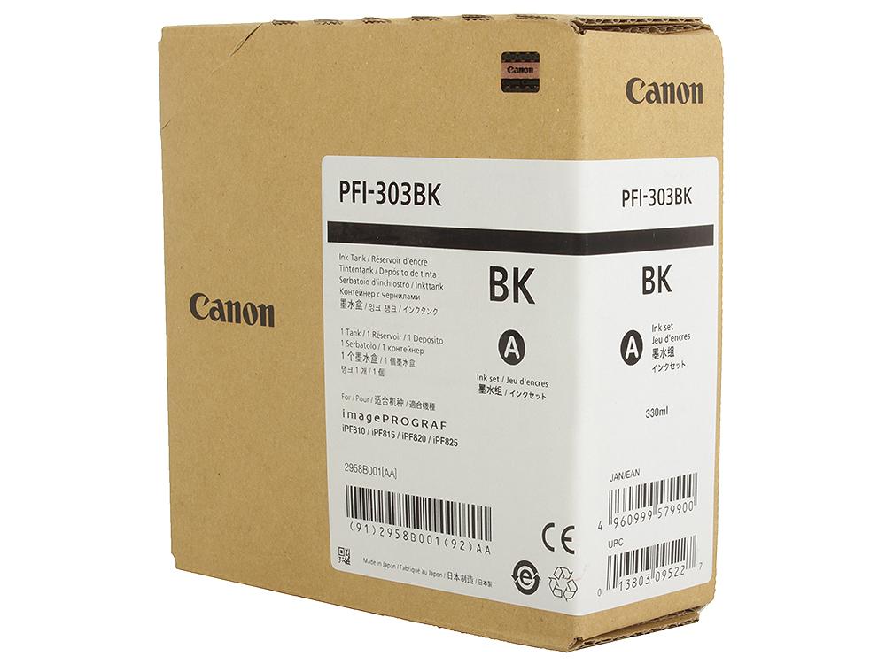 Картридж Canon PFI-303 BK для плоттера iPF815/825. Чёрный. 330 мл. картридж canon pfi 303 mbk для ipf815 825 черный матовый