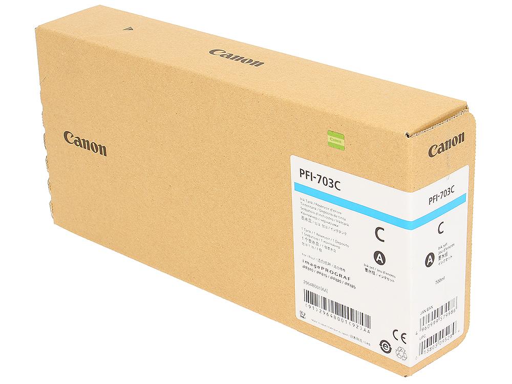 Картридж Canon PFI-703 C для плоттера iPF815/825. Голубой. 700 мл. картридж canon pfi 107bk 6705b001