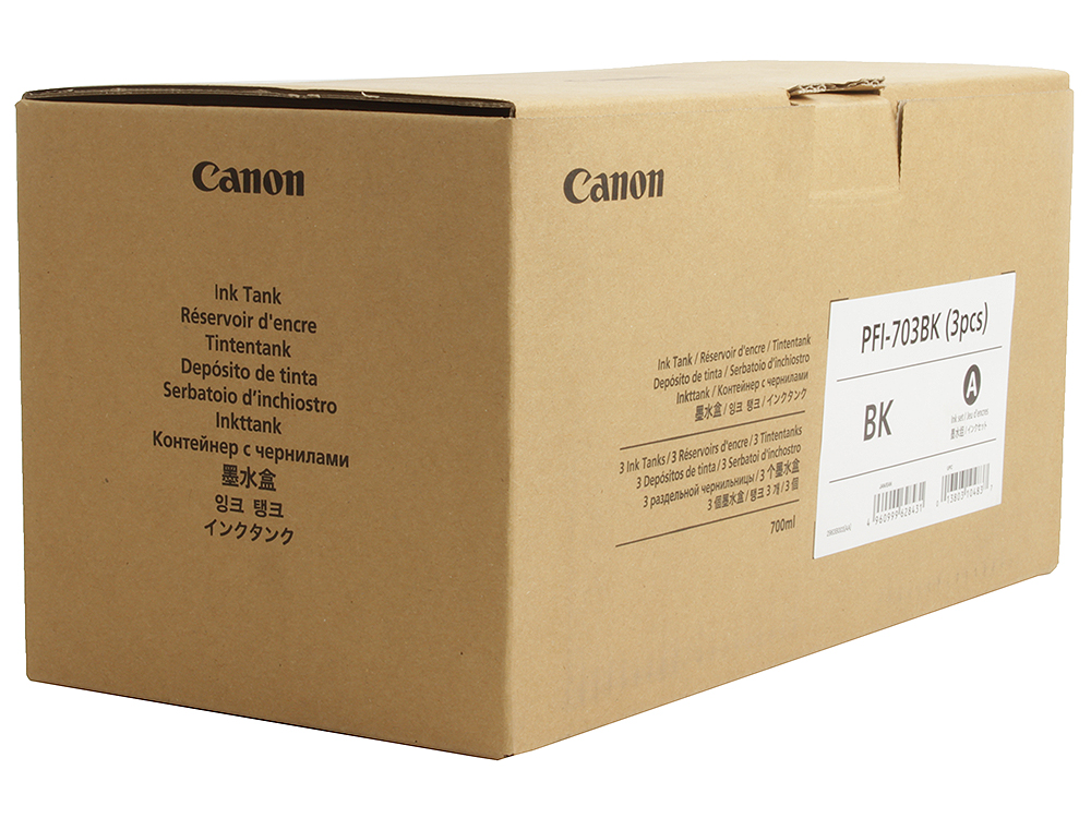 Картридж Canon PFI-703 BK(3 PCS) для плоттера iPF815/825. Чёрный. 700 мл. 3 штук. ccy u3 165 bk micro usb 3 0 male to usb 3 0 female otg cable w external power for galaxy note 3