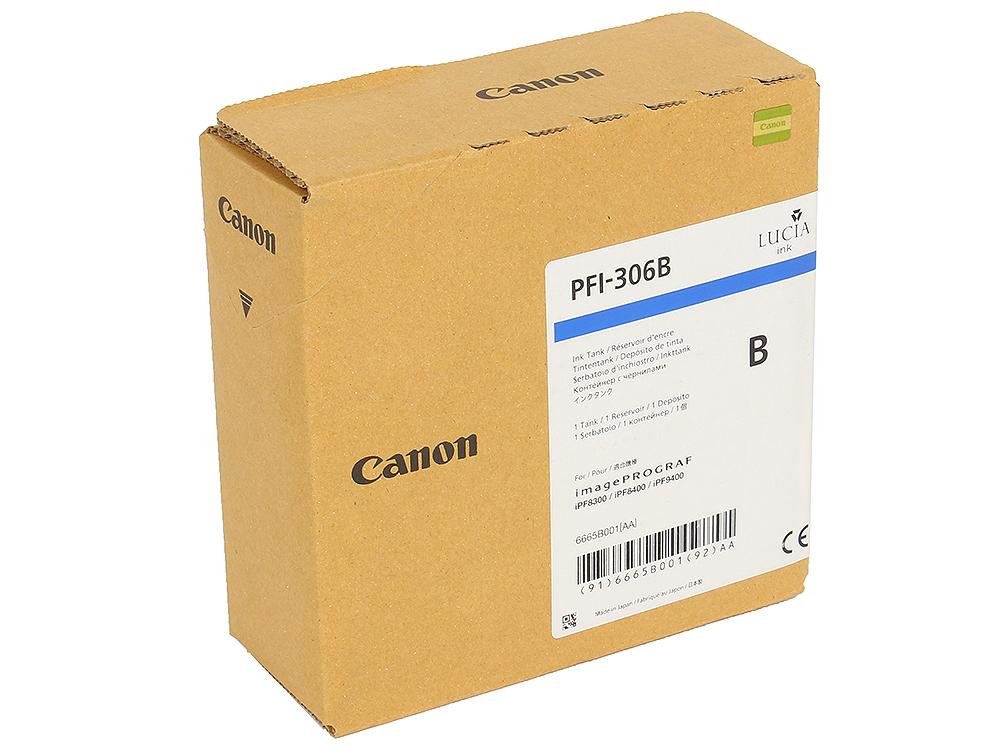 Картридж Canon PFI-306 B для плоттера iPF8400/9400. Светло-голубой. 330 мл. canon pfi 306 black
