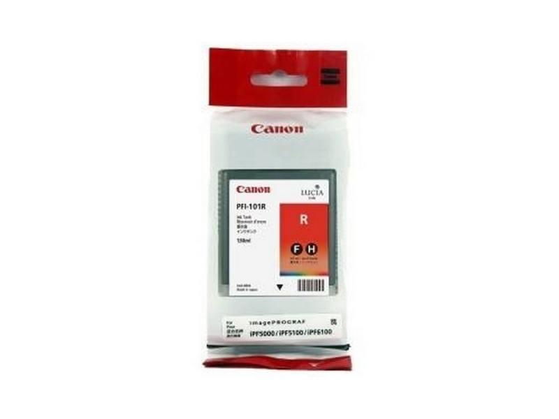 Картридж Canon PFI-101 R для плоттера iPF5100. Красный. fashionable turn down collar color block bleach wash denim long sleeve coat for women