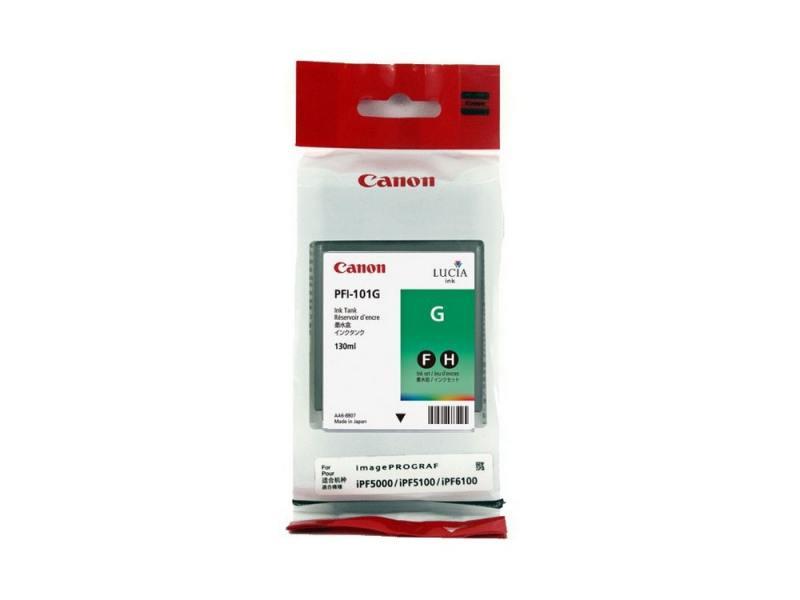 Картридж Canon PFI-101 G для плоттера iPF5100. Зелёный.